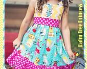 Girls Circus Dress, Circus Party Dress, Circus Birthday Dress