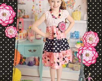 Ballerina Dress - Girls Dress - Pink and Black Dress - Girls Ballet Dress - Princess Dress