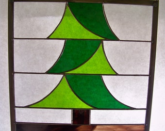 Lonesome Pine Stained Glass Panel