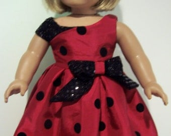 holiday dress to fit American girl dolls