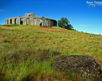 Stonehenge Replica Monument Fine Art Photography Washington Columbia River Gorge Greeting Card Pagan MARYHILL STONEHENGE by Spinning Castle
