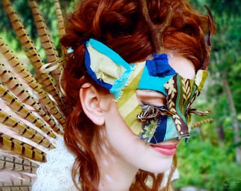 Custom One-of-a-kind Upcycled Animal Mask - You Choose Your Colors and Animal - MADE TO ORDER