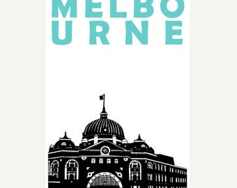 Melbourne Poster (12x18 / 13x19) Australia Art