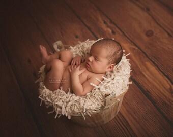 Newborn Baby Blanket Photography Prop, Cream Blanket, Knit Fur Blanket, Mini rug, Basket Filler