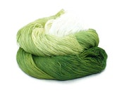 300 Yards Hand Dyed Thread Cotton Crochet Thread Size 10 3 Ply Specialty Thread Green Ombre White Thread Hand Painted Fine Cotton Yarn