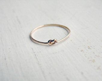 Thin Knot Ring Gold Fill