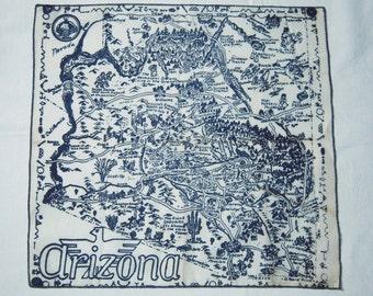 Vintage Souvenir Hankie 1930s Arizona MINT