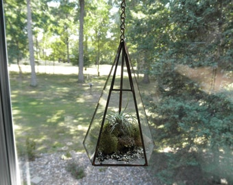 Small Hanging Glass Terrarium