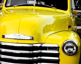 Chevrolet 3100 Pickup Truck Car Photography, Automotive, Auto Dealer, Muscle, Sports Car, Mechanic, Boys Room, Garage, Dealership Art