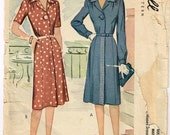 Original 1940's Professional Dress Pattern for the Working Woman Size 40 Bust 40 MCCALL 5515