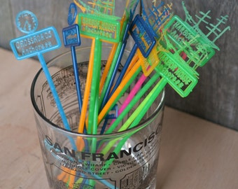 Collection of Vintage Swizzle Sticks