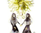 the gorgon sisters 8.5x11 print