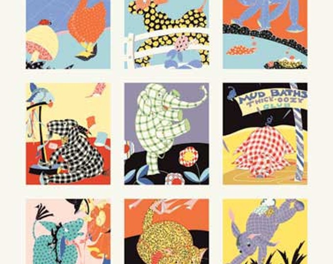 Patchwork Pals Cotton Crib Panel by Amy Barickman for Red Rooster Fabrics.