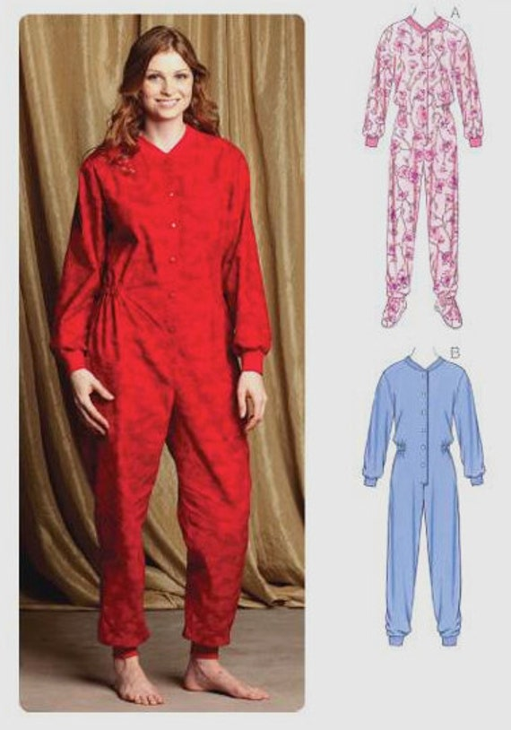 Adult Footie Pajamas Pattern 113