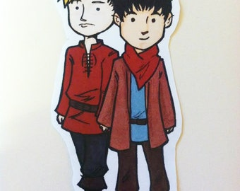 MERLIN -  Sticker - Merlin and Arthur