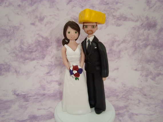 green bay wedding cake topper amp groom green bay packers fans personalized by mudcards 14967