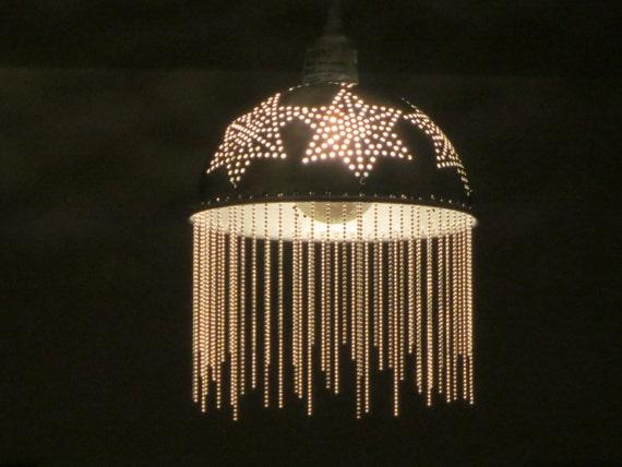 Starry Medusa pendant light - plug in or install