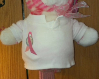 Candy the Cat Head Cover with Breast Cancer Ribbon/Golf Ball