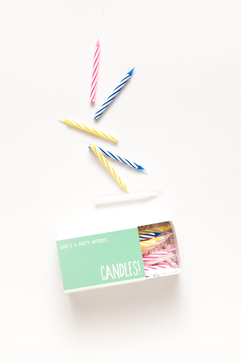 Candles Set of 18 Birthday Candles In Festive Slider Box