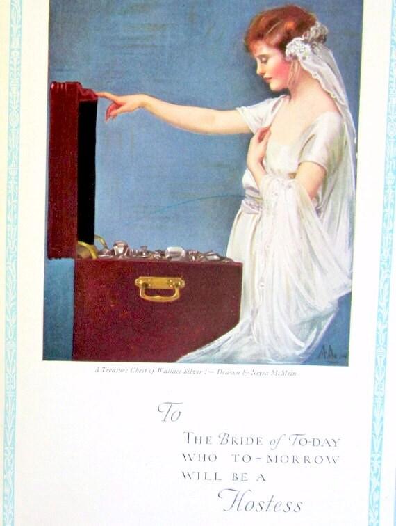 Wedding Shower Hostess Gift Etiquette : Vintage Hostess Book Etiquette Wallace Brides Silver Hostess Book ...