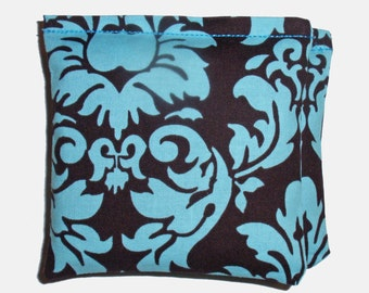 "Lavender Sachets - 4x4"" Set of 2 - Michael Miller's Dandy Damask - Eco Friendly Dryer Sheets, Car Air Fresheners, Lavender Drawer Sachets"