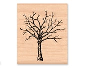 BARE TREE Rubber Stamp Bare Branches Fall or Autumn Tree Lost Leaves Halloween Decor Winter Season Rustic Forest Mountainside Crafts (29-18)