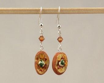 Miniature Food Loaded Baked Potato Earrings