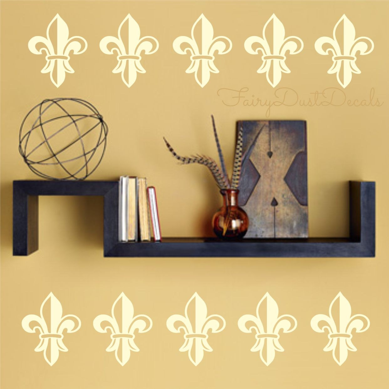 Wall Decal Flower French Fleur De Lis Wall Decals Set Of 16