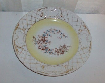 Blue and Yellow Floral Plate