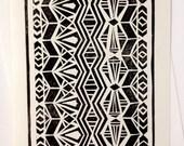 Reservations Linocut Art Print & Envelope