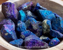 CHALCOPYRITE PEACOCK ORE Colorful Iridescent Stones in Jewelry Pouch for Rites to Evoke Positive Happy Forces, Dissolve Negativity