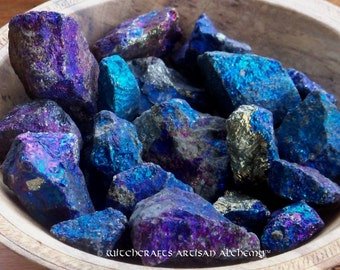 CHALCOPYRITE PEACOCK ORE Colorful Iridescent Stones in Gift Bag