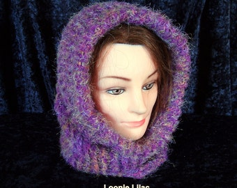 Knit cowl - wool - alpaca - mohair - many color options