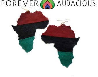 RBG AFRICA Roots (Genuine Leather Handmade Earrings) -FREE Gift w/ Purchase