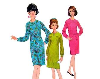 Womens Dress Pattern McCalls 8543 Gathered Yoke Shift Dress Pattern | Junior Petite Womens Sewing Pattern Size 7 9 Vintage Pattern