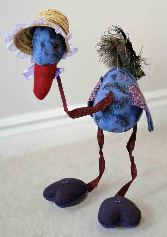 Matilda The Ostrich Marionette By Specialgift On Etsy