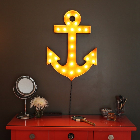 free shipping sale vintage marquee lights anchor. Black Bedroom Furniture Sets. Home Design Ideas