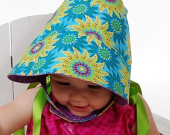 Summer Hat - Summer Bonnet Sew Modern Reversible Sun Bonnet -  All Season - Mod Bonnet - PDF Sewing Pattern - Child sizes XS-XL 3 Versions