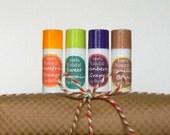 Lip Balm Gift Set  / Lip Butter Set of 4 / Great Stocking Stuffer