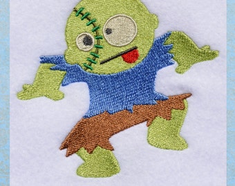 Dub Step Zombie, INSTANT DOWNLOAD, Zombie Embroidery Design for Machine Embroidery 4x4
