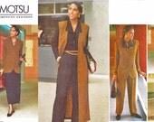 Vintage Vogue 1200 American Designer Tamotsu Career Wardrobe Jacket, Top, Princess Seam Jumper, Skirt & Pants (6-8-10) Sewing Pattern UNCUT