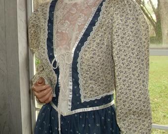 "Gunne Sax Dress ""Victorian lace and Boho Calico"""