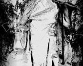 Skeleton Photo- Framed 4X6 Print- Fine Art Photography- Goth Decor- Affodable Wall Art- Cemetery Photography