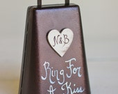 Ring For A Kiss Wedding Bell Personalized Rustic Chic Decor (Item Number MMHDSR10038)