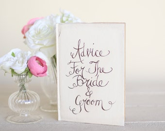 Wedding Guest Book Rustic Chic Wedding Calligraphy Advice For The Bride and Groom (item number MMHDSR10021)