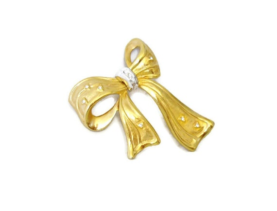 Brooch Vintage Pin Bow Bow Brooch Signed NLH Landau Jewelry