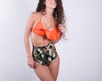 Camouflage High Waisted Bikini bottoms