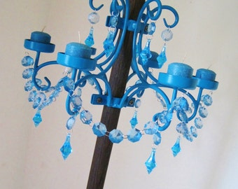 Forever Summer Turquoise Outdoor Patio Umbrella Chandelier MADE TO ORDER
