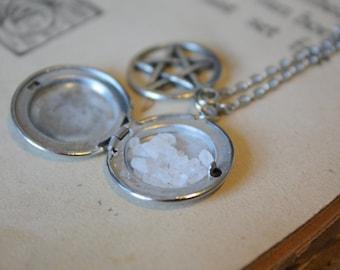 Supernatural Necklace - Sea Salt Protection Locket