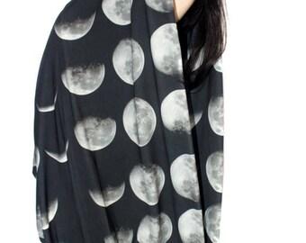 SAMPLE SALE | Oversized Moon Phase Circle Scarf